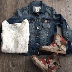 H&M L.O.G.G. Denim jacket ~ Size 6